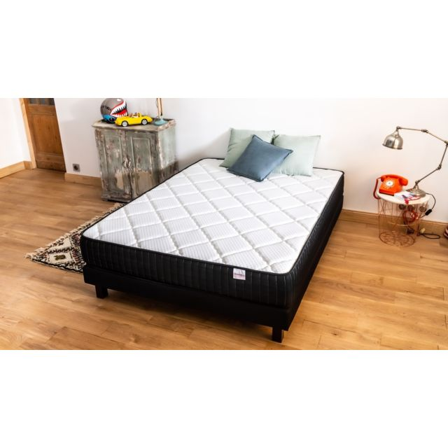 hbedding ensemble matelas m moire sommier 140x190 extra memo mousse visco et mousse. Black Bedroom Furniture Sets. Home Design Ideas