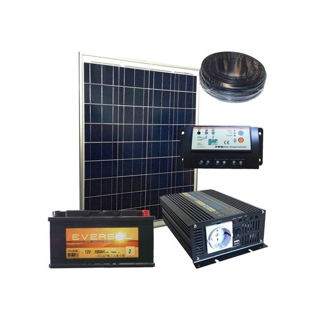 sellande kit solaire 12v 80w 323wh par jour autonome. Black Bedroom Furniture Sets. Home Design Ideas