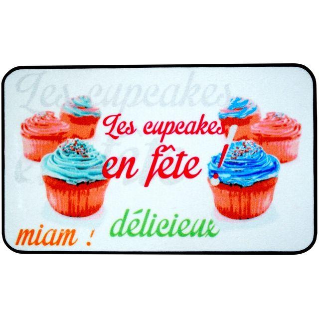 Promobo Tapis De Cuisine Design Gourmand Les Cupcakes En Fête