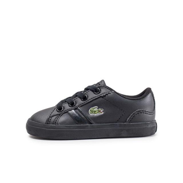 lacoste lerond 218 b b noire pas cher achat vente chaussures chaussons rueducommerce. Black Bedroom Furniture Sets. Home Design Ideas