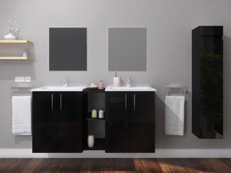 Meubles de salle de bain Gaelle suspendu double vasque et ...
