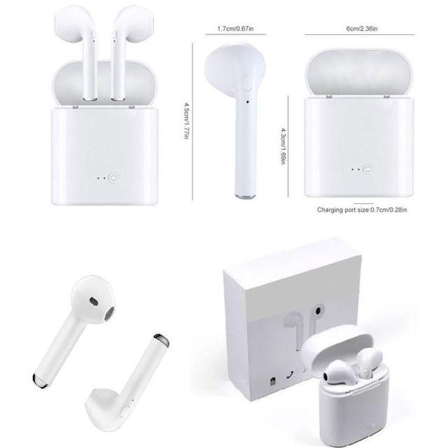 Ecouteur sans fil + kit pieton + micro blanc pour Motorola Moto Z3 Play