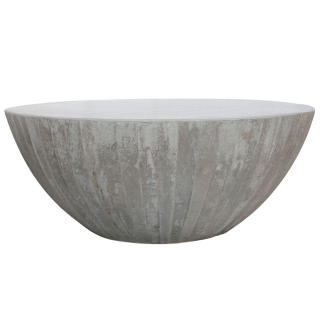 Rendez Vous Deco Table basse ronde Rumba béton