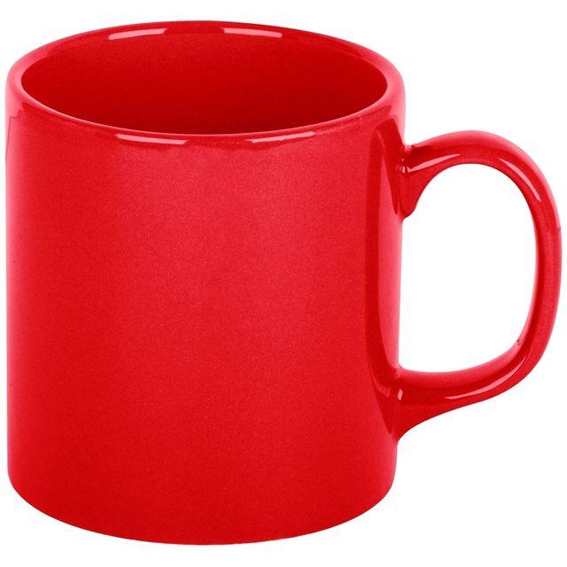 Promobo Mug Tasse A Café Platine Design City Rouge 10cm
