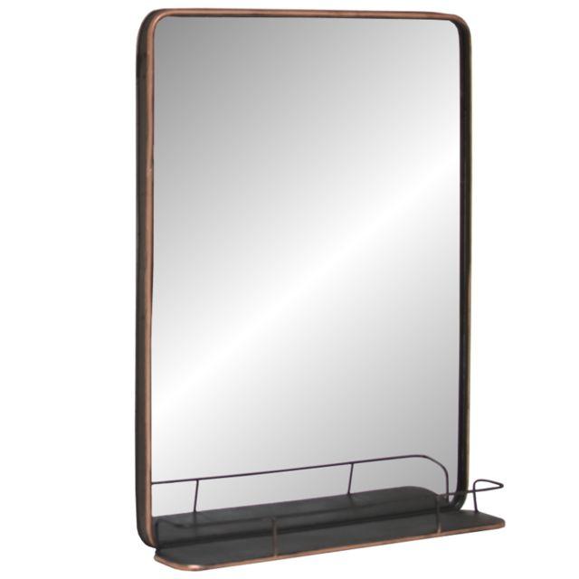 L'ORIGINALE Deco Miroir Industriel Fer Métal Mural 100x75x13,50cm