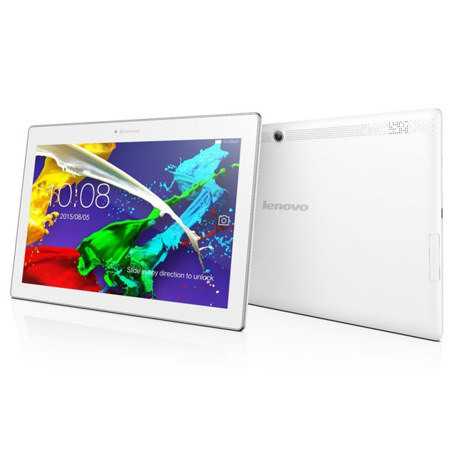 LENOVO Tablette tactile 10,1'' - Mediatek MT8165 Quad Core - Stockage 16 Go - RAM 2 Go - Android 4.4 - Blanc