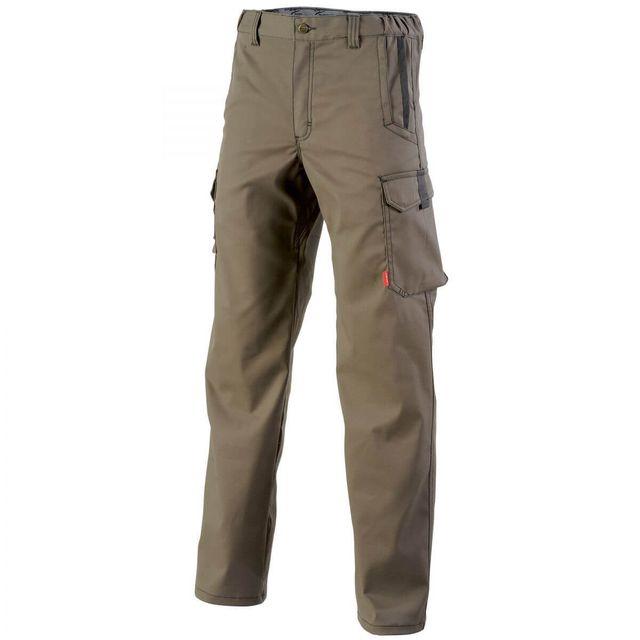 Adolphe Lafont Pantalon de travail sans poches genoux marron A. Lafont