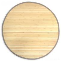 Decoshop26 - Tapis en bambou rond naturel Ø 150cm Tap06080