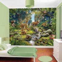Walltastic - Papier peint enfant animaux de la forêt 305X244 Cm