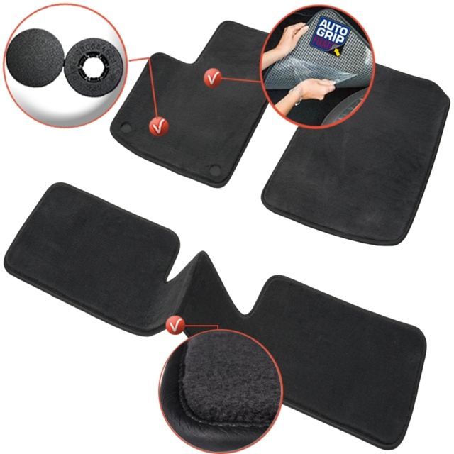 dbs tapis auto voiture sur mesure pour renault twingo 2 de 03 2007 08 2014 3 pi ces. Black Bedroom Furniture Sets. Home Design Ideas