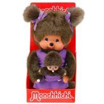 Monchhichi - Maman et son Bébé Violet 20 cm
