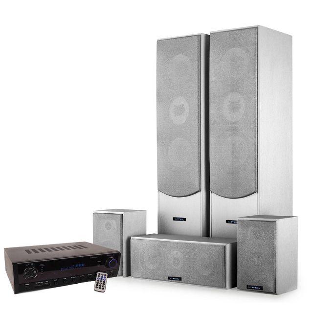 Ltc Home-Cinema 5 enceintes 850W E1004SL + Ampli 2x50W + 3x20W Atm6500BT