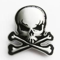 Universel - Boucle de ceinture crane pirate noir os croisé tete de mort 93ba31eef14