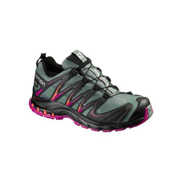 Salomon Xa Pro 3D Gtx Noire Et Bordeaux Chaussures trail