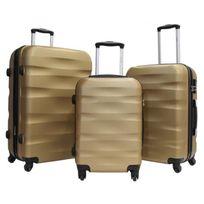 ALISTAIR - Set de 3 Valises Fly - ABS Ultra Légères - 4 Roues - Gold
