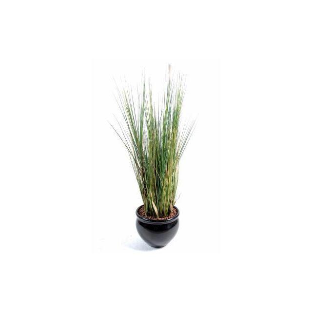 Artificielflower Plante artificielle Herbe luxe Onion Grass en pot - intérieur - H. 95cm vert jaune - taille : 95 cm