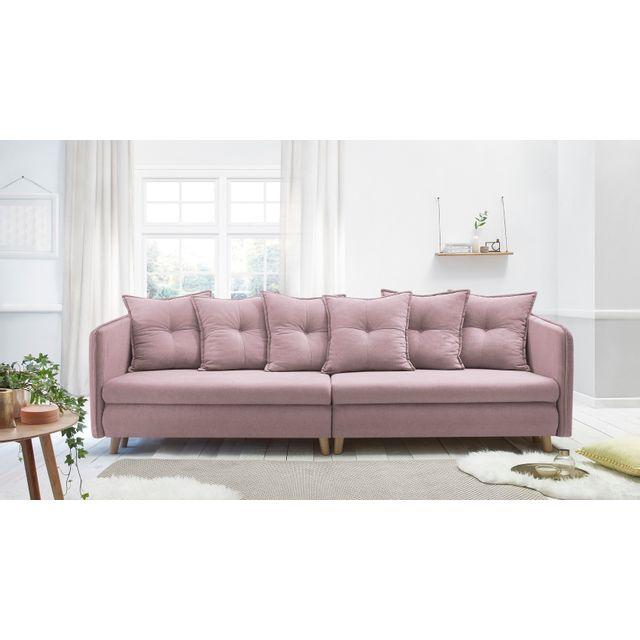 4 Rose Opti Places Canapé Convertible Poudré Sofa XTuZiOPk