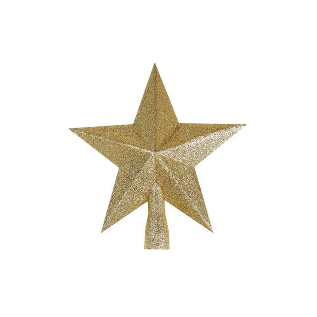 Pointe étoile paille - 19 cm