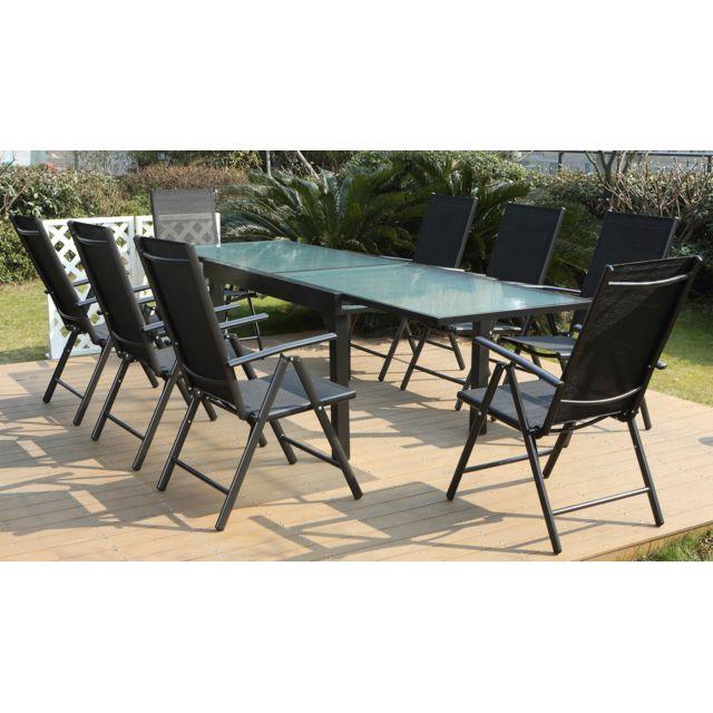 CONCEPT USINE - Breshia 8 : Salon de jardin en aluminium et ...
