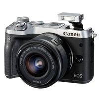 Canon - Eos M6 24.2 Mps 3' Écran Lcd, Téléobjectif zoom 55 - 200 mm