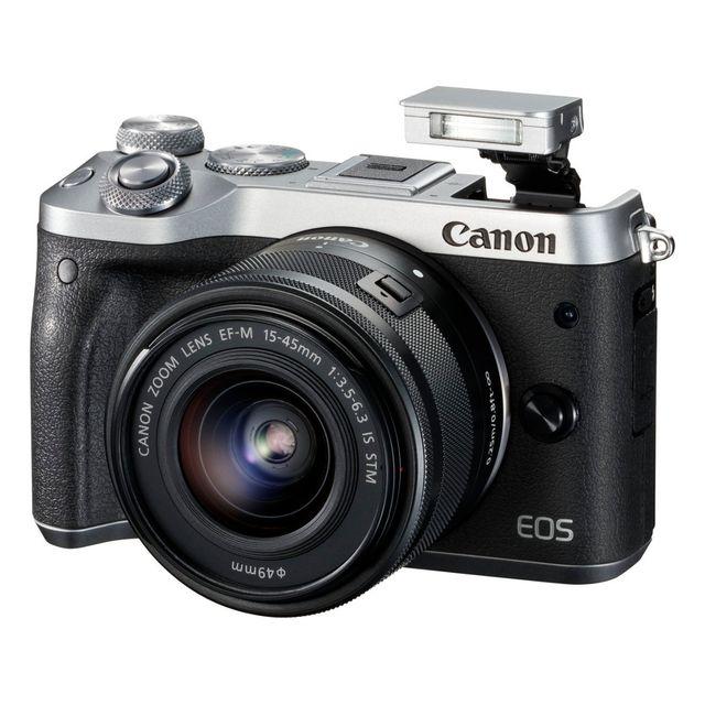 Canon Eos M6 24.2 Mps 3' Écran Lcd, Téléobjectif zoom 55 - 200 mm