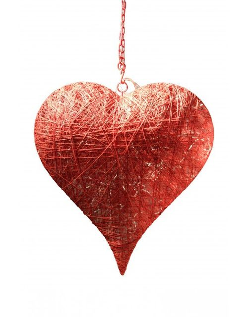 Decoshop Suspension coeur rouge