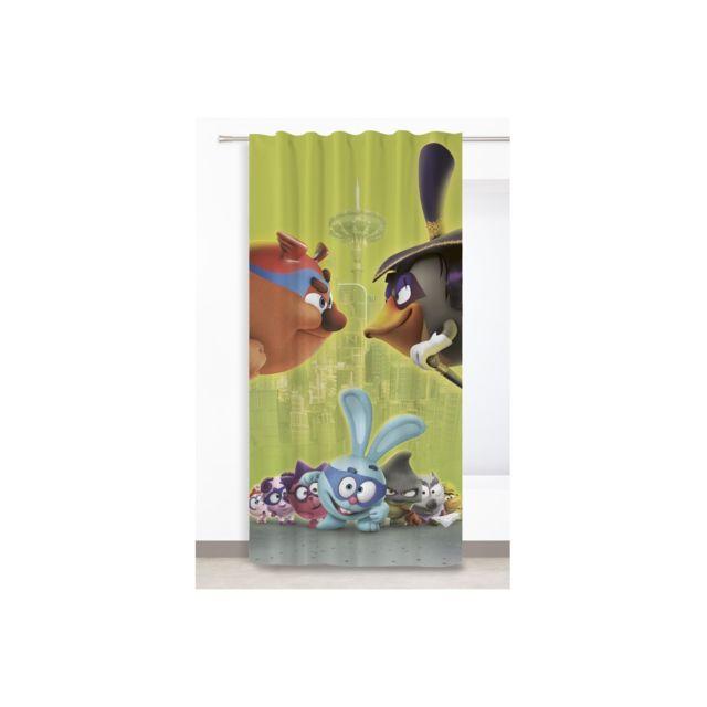 rideaudiscount rideau enfant galon fronceur 140 x 260 cm motif animation multicolore vert v2. Black Bedroom Furniture Sets. Home Design Ideas