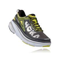 Hoka One One - Bondi 4 Grise Et Jaune Chaussures de running