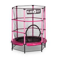 Klarfit - Rocketkid Trampoline 140cm Filet de sécurité rose