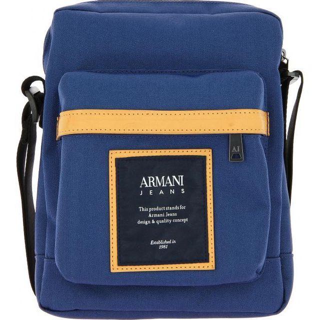 8a74b5a08b1 Armani - Promo   Sac Reporter Toile Jeans - pas cher Achat   Vente ...