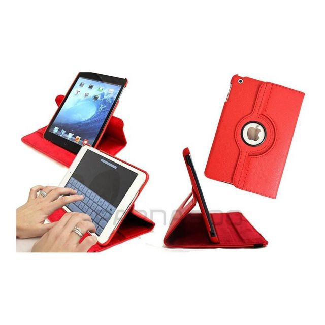 Wellkom - Housse de protection pour - Ipad mini-Cuir Rouge