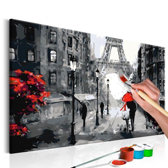 Tableau à Peindre Par Soi Même Amoureux à Paris Décoration Image Art Peinture Par Numéros Kits De Peinture Pour Adultes 60x40 Cm