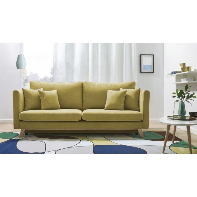 bobochic canap triplo 3 places convertible jaune achat vente canap s pas chers. Black Bedroom Furniture Sets. Home Design Ideas
