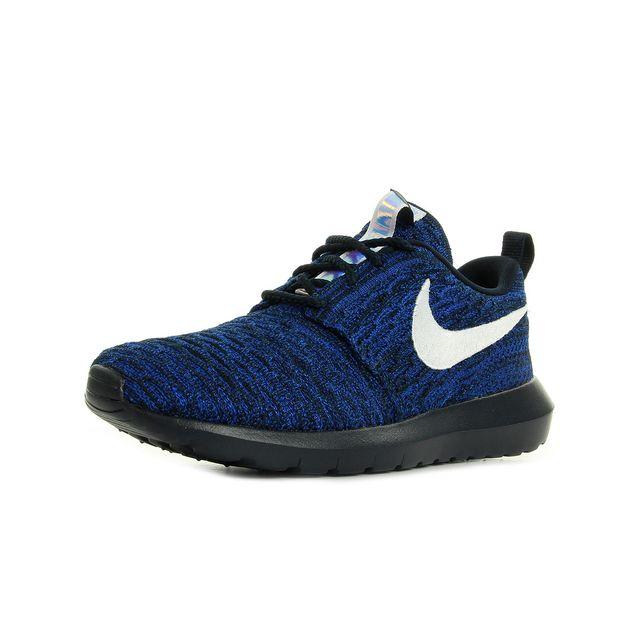 świetna jakość sprzedawca detaliczny buty na tanie Nike - Roshe Nm Flyknit Bleu marine, Blanc, Noir - pas cher ...