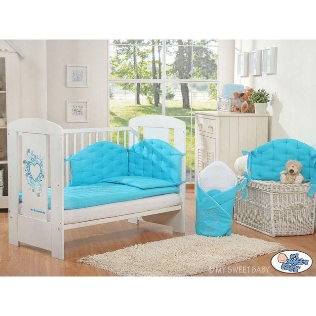 Autre Lit bébé chic turquoise + parure 4 pièces