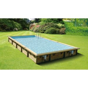 Ubbink piscine bois lin a 500 x 800 h140 cm liner for Destockage piscine bois