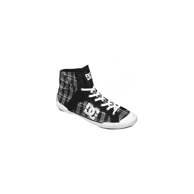 a6f9d67cf6b ... Dc - Baskets Femme Dc Shoes Chelsea Z Hse Black White Plaid Des chelsea  ultra fines ...