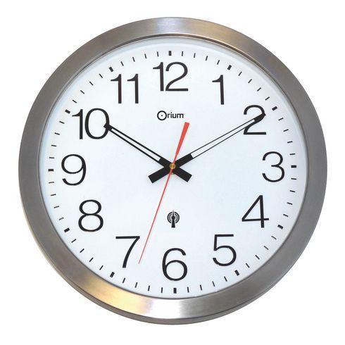 orium horloge ext rieure radio pilot e acier x x pas cher achat. Black Bedroom Furniture Sets. Home Design Ideas