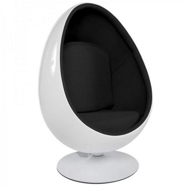 Oneboutic Fauteuil design blanc noir - Lounge