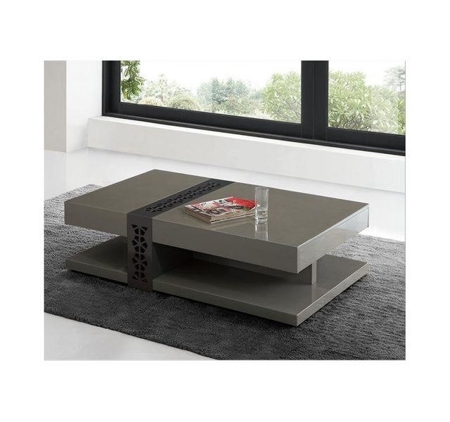 Chloe Decoration Table Basse Design Galina Taupe Pas Cher