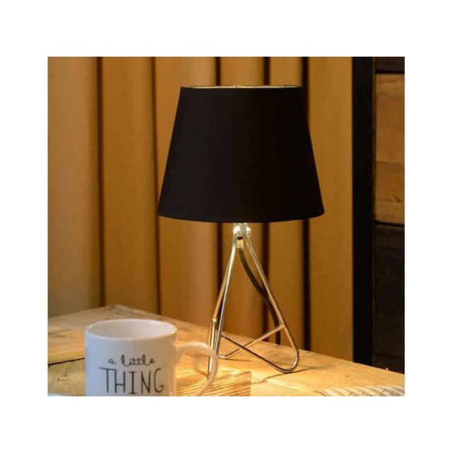 Lucide Lampe à poser trépied chromée hauteur 30 cm Gitta