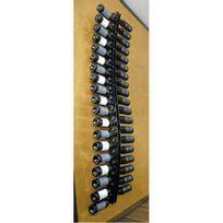 Sobrio - Support mural en plexiglas transparent pour 38 bouteilles illumination Led optionnelle Plexiglas transparent Aci-sbr109