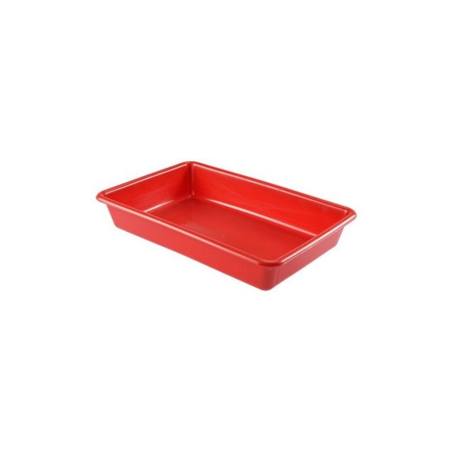 Gilac Bac Plat Alimentaire 10 Litres Rouge