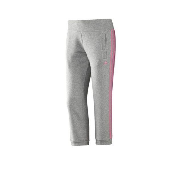 amortiguar Patria triatlón  Adidas - Pantalon 3/4 ESS 3S gris Entrainement Femme Multicouleur ...