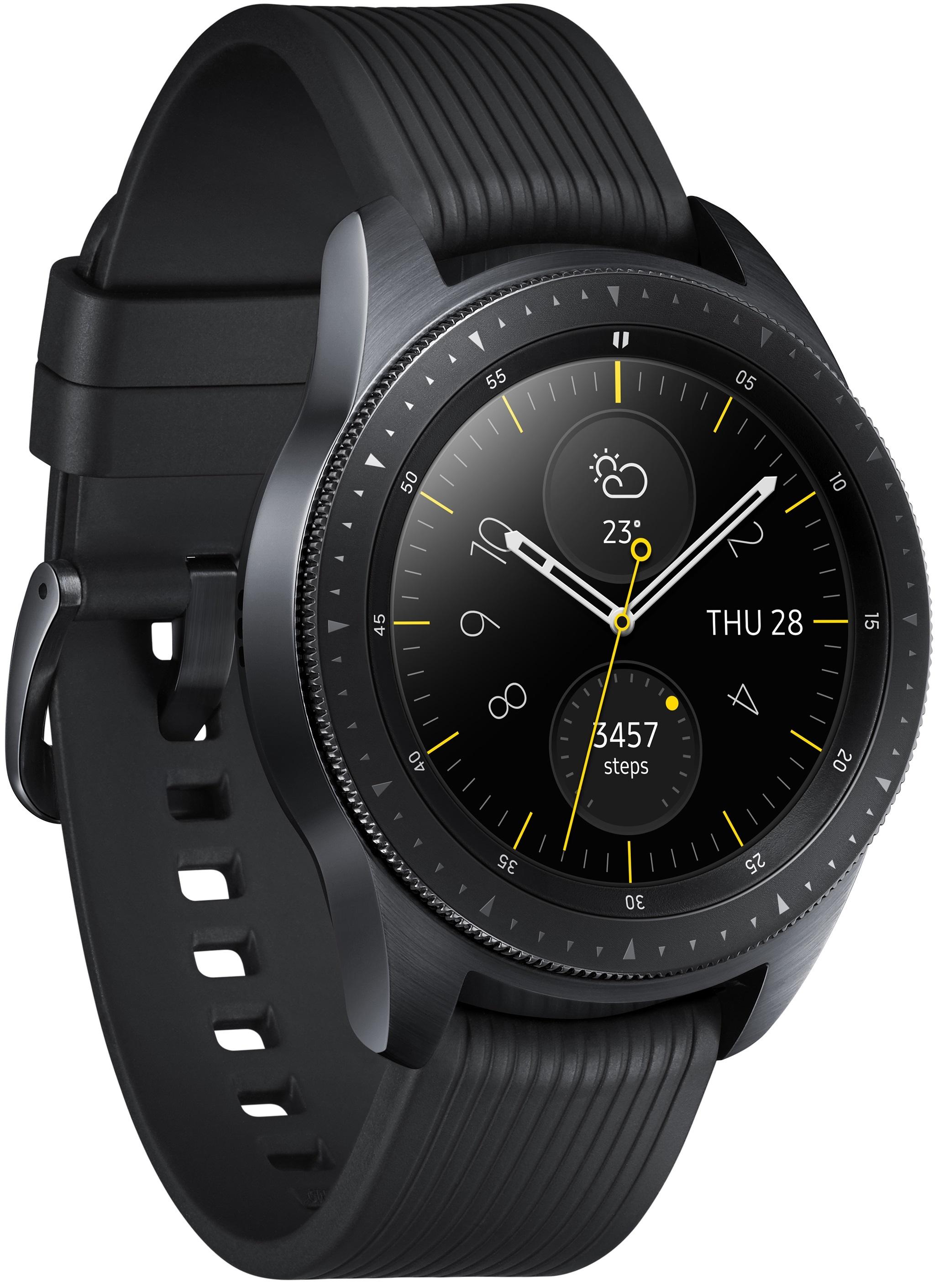Montre connectée Galaxy Watch 42mm 4G eSim Samsung noir carbone