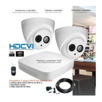 Dahua - Kit de vidéo surveillance Hdcvi avec 2 caméras dômes Capacité du disque dur - Disque dur de 1 To