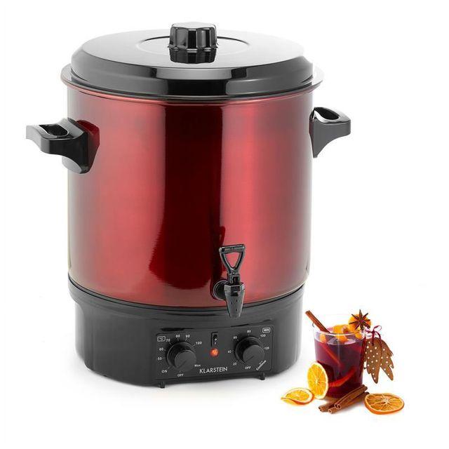 KLARSTEIN Biggie Distributeur de boissons chaudes 27l 2000W minuterie - rouge