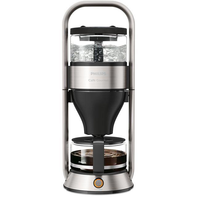 PHILIPS Cafetière filtre Gourmet programmable HD5413-00 Mélangeur d'arôme - Maintient du café à température grâce à une plaque chauffante - Système stop-gouttes - Arrêt automatique au bout de 30