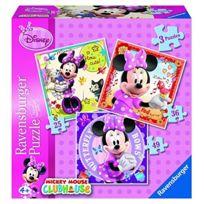 Ravensburg - Boite 3 Puzzles Disney Minnie 7244