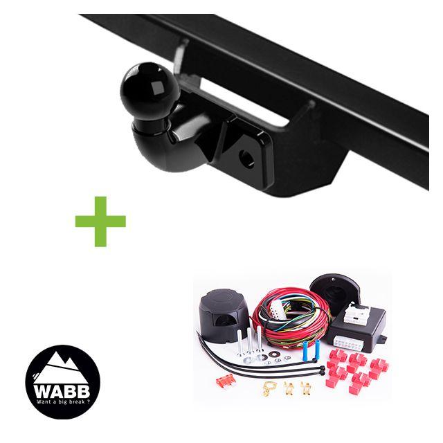 wabb attelage avec outils faisceau 13 broches universel compatible feu led pour peugeot. Black Bedroom Furniture Sets. Home Design Ideas